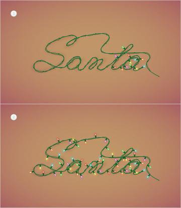 Christmas Lights Text Effect