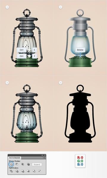 Old Lamp Illustration
