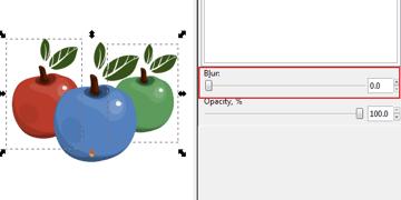 inkscape blur option