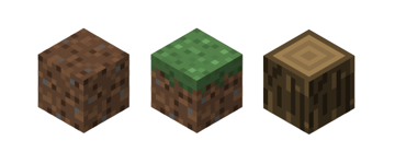 dirt grass and tree block