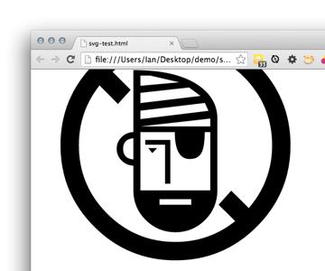 A beautiful crisp SVG infinitely scalable