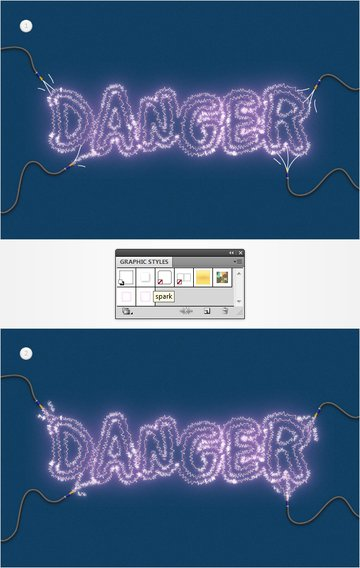 Electricity Text Effect