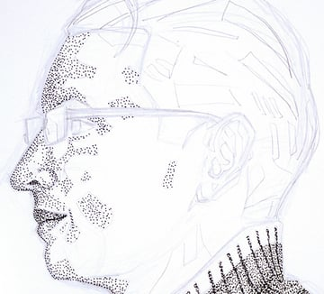 pointillism-face
