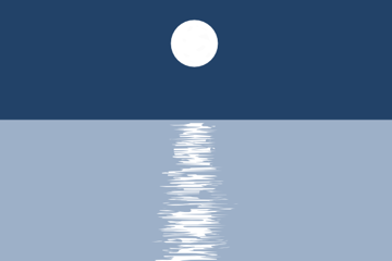 water reflection brush stroke