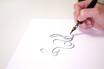 calligraphy intro - playing with the pen