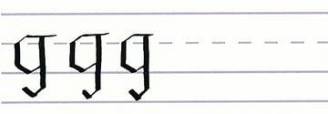 gothic script - letter g multiples