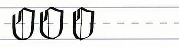 gothic script - uppercase o multiples