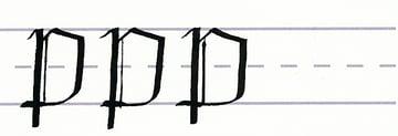 gothic script - uppercase p multiples