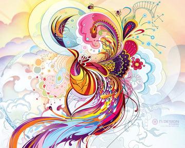 wallpaper art 5 abstract phoenix