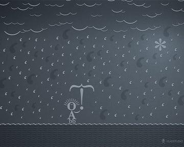 wallpaper art 10 typographic rain