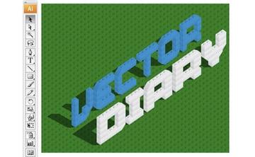 Illustrator Tutorial Lego Bricks Typeface