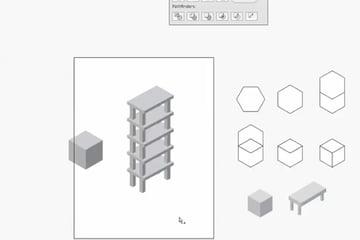 Illustrator CS4 - Isometric Cube