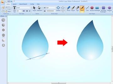 cutting water drop