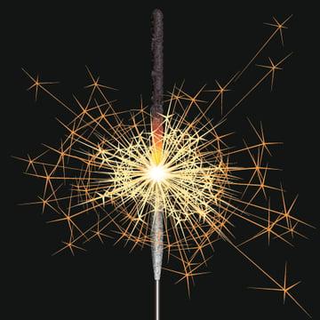 many sparks