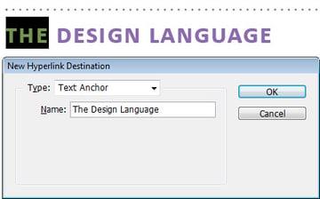 Step 2 - Destination Type: Text Anchor