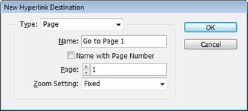 Step 2 - Destination Type: Page