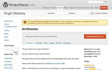 Art Direction Plugin on WordPress