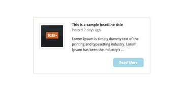 Blog post component