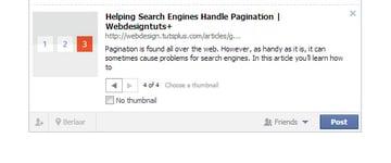 social snippet on facebook