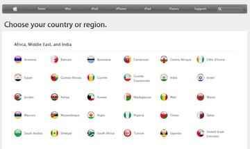 apple international landing page