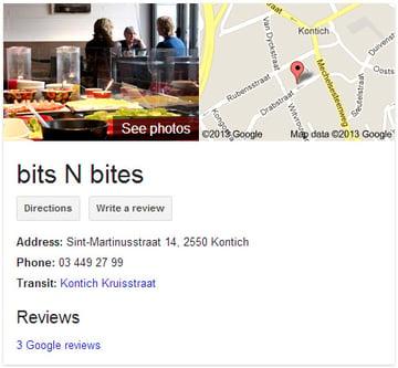 bits n bites in google+ local