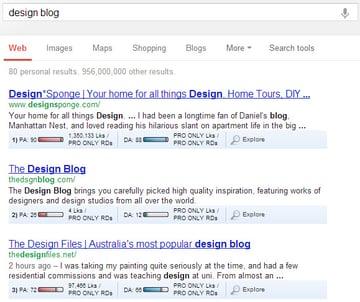 seomoz toolbar serp overlay