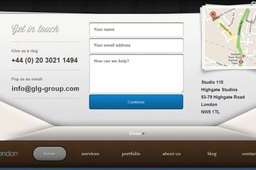 contact page of the GLG group