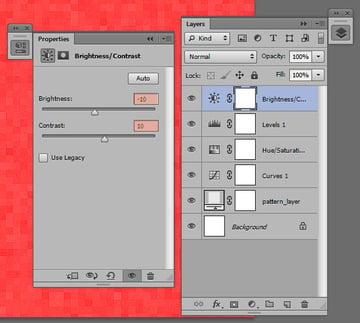 Add a brightness/contrast Adjustment Layer