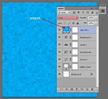 Add a Color Layer -- #00b4ff