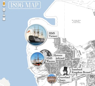 Map I created using the Google maps API