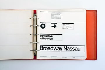 New York City Transit Authority Graphics Standards Manual from 1970
