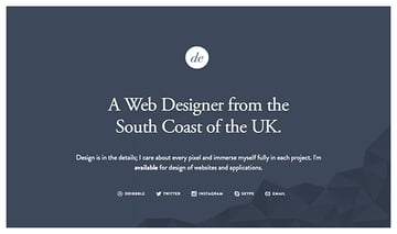 On Dan Edward's site, he uses whitespace to offset the typography and introduction to his portfolio website.