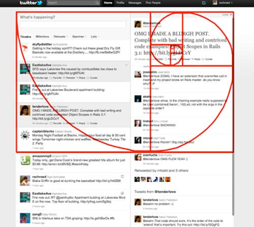 The golden ratio, seen in action on Twitter. Screenshot taken by Ryan Schroeder.