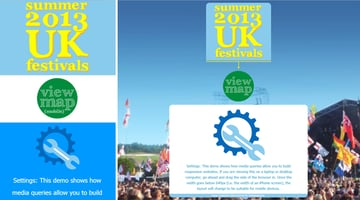 Home page Left - mobile style Right - laptopdesktoptablet style