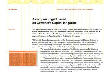 An example grid the Gerstner on the Gridset App website
