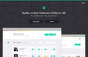 The onsite website has a great brand, with a simple design that sticks true throughout the homepage and other top-level pages.
