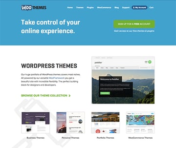 WooThemes have a great visual style and tone that's set throughout all of their website - which can be more difficult to do when you have larger sites like this.