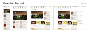 The Greenbelt Festival is a great example of responsive web design. Screenshots provided courtesy of mediaqueri.es.