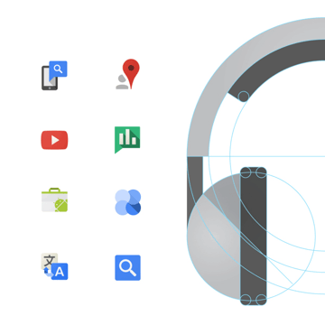 Part of Google Visual Assets Guidelines on Behance