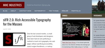 Font Replacement Methods for Web Designers Cufon font-face SIFR FLIR