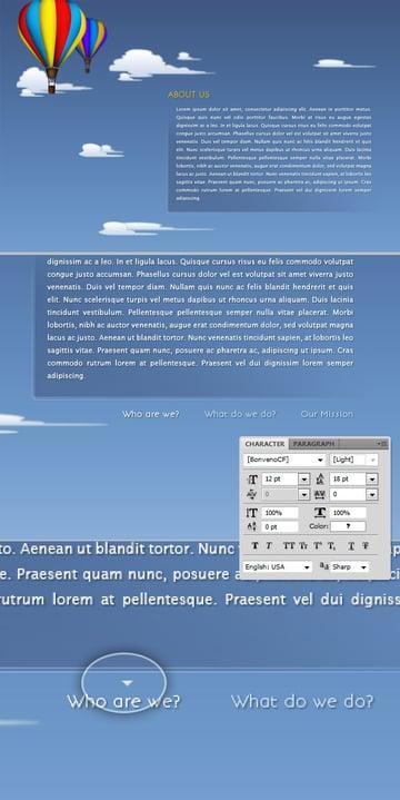 Illustrative One Page Design Tutorial