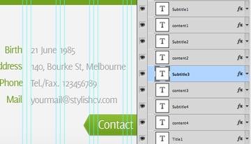 Web Design Resume CV Template title=