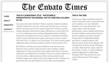 the original method of creating multiple columns using CSS
