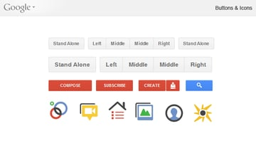 google new buttons icons