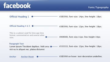 facebook typography fonts