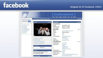 Facebook app ui history