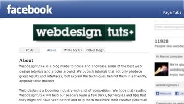 Facebook app tabs