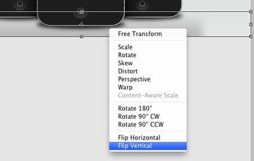 Right-click flip vertical