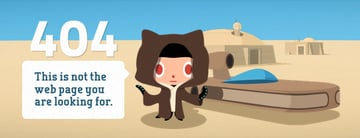 Github's Starwars inspired 404