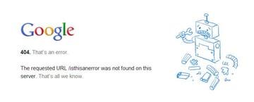 Google's 404 Page Design